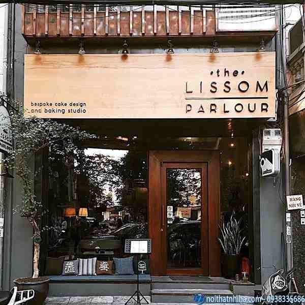 Làm cửa kính quán cafe, thiết kế trang trí vách nhôm kính đẹp
