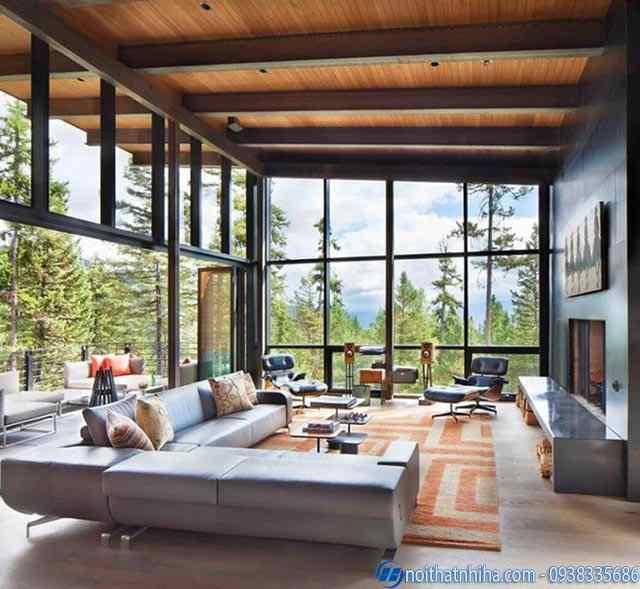 mẫu cửa kính cường lực phòng khách là lựa chọn thông minh cho ngôi nhà