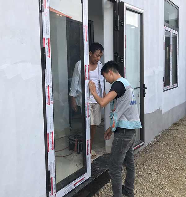 Vách, Cửa nhôm kính Thái Nguyên, Thi công lắp đặt trọn gói