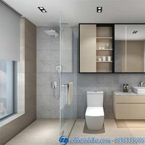 Vách ngăn phòng tắm bằng kính cường lực