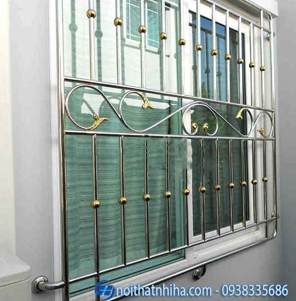 khung bảo vệ cửa sổ inox đẹp