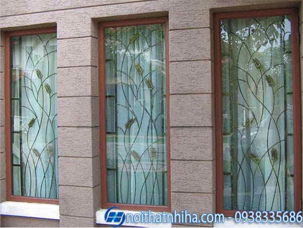 khung bảo vệ cửa sổ inox sang trọng
