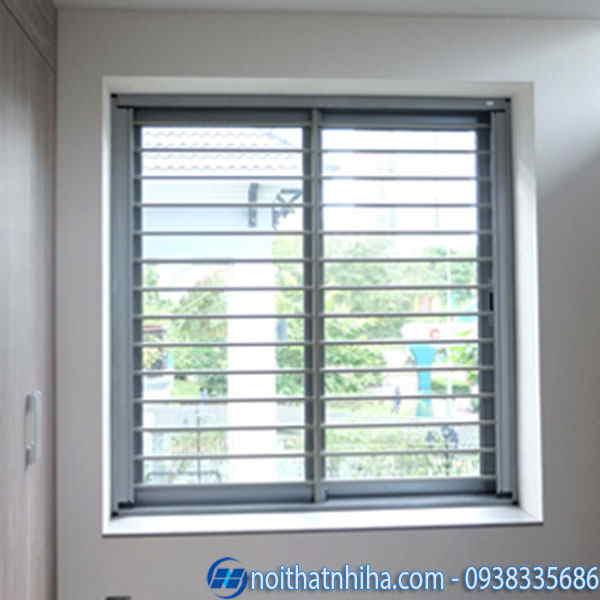 khung bảo vệ cửa sổ nhôm đơn giản