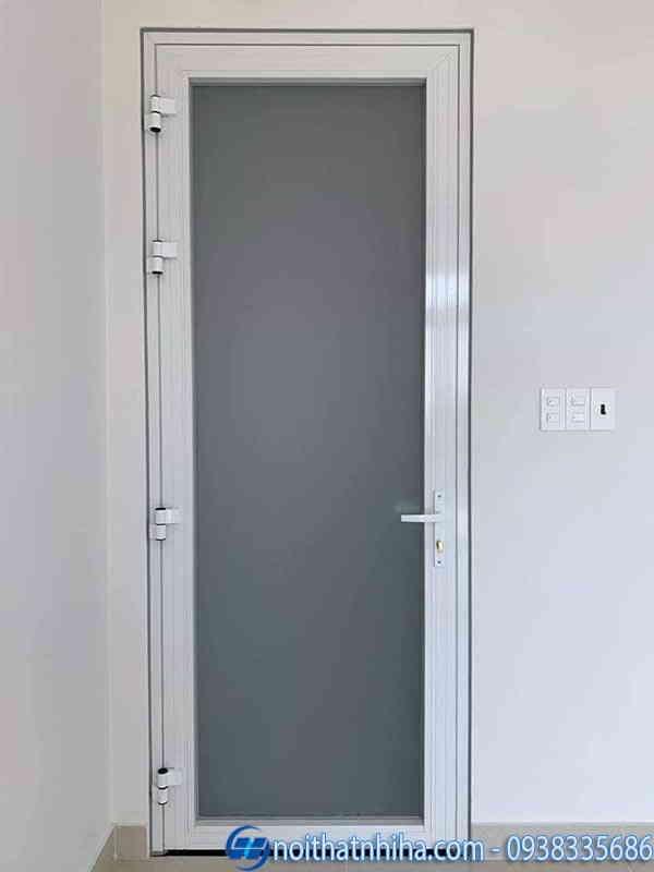 Cửa đi 1 cánh phòng ngủ màu trắng