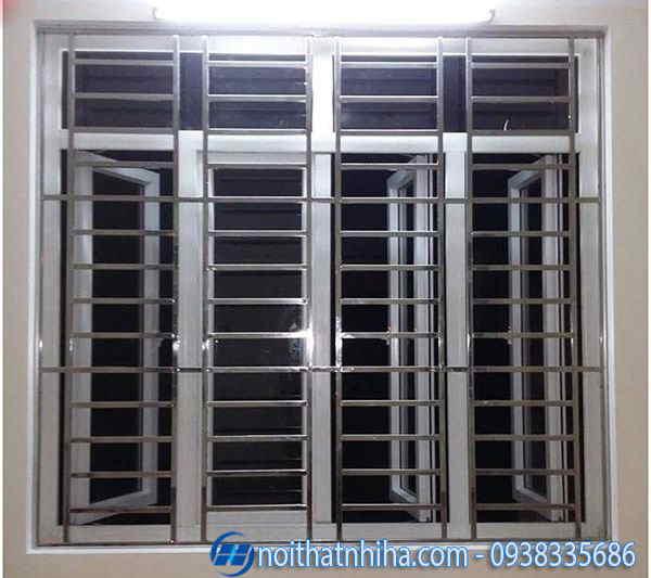 khung bảo vệ cửa sổ inox