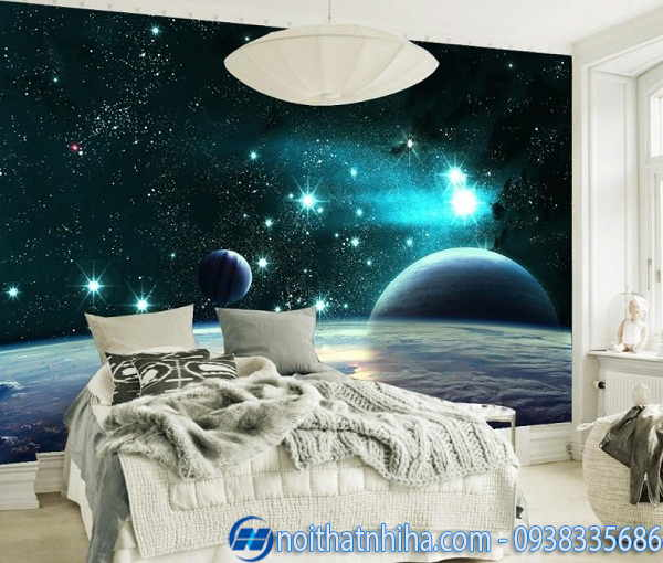 Tranh kính 3D phòng ngủ đẹp