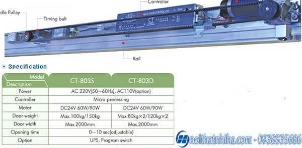 Cửa tự động Cortech model CT80SD