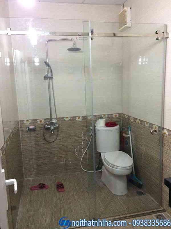 Cửa đi 1 cánh mở lùa phòng tắm