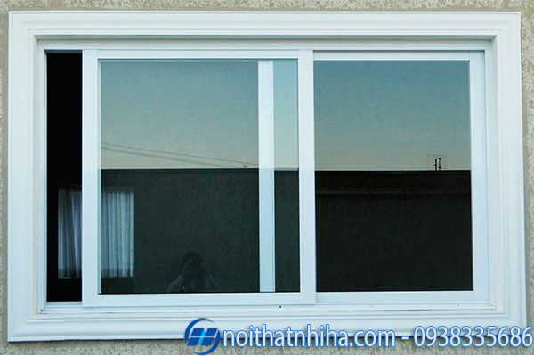 Cửa sổ lùa nhôm kính 2 cánh phản quang