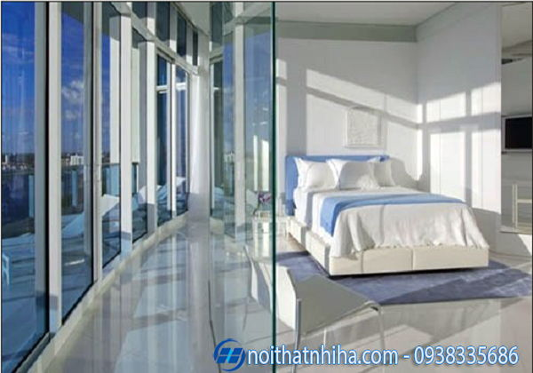 Vách ngăn kính cường lực phòng ngủ