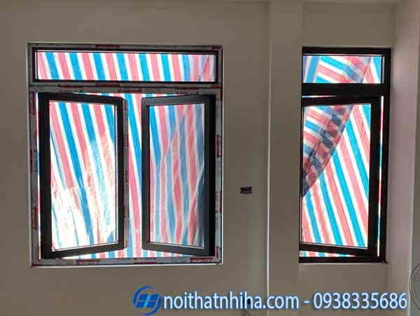 cửa sổ kính cường lực nhôm xingfa
