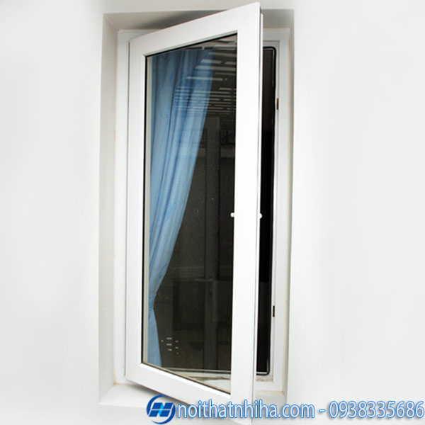 Cửa sổ 1 cánh mở quay kết hợp rèm