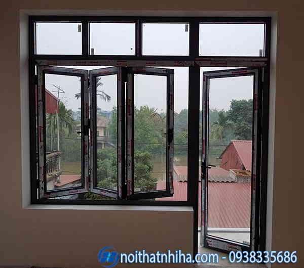 cửa sổ kính cường lực xếp gấp