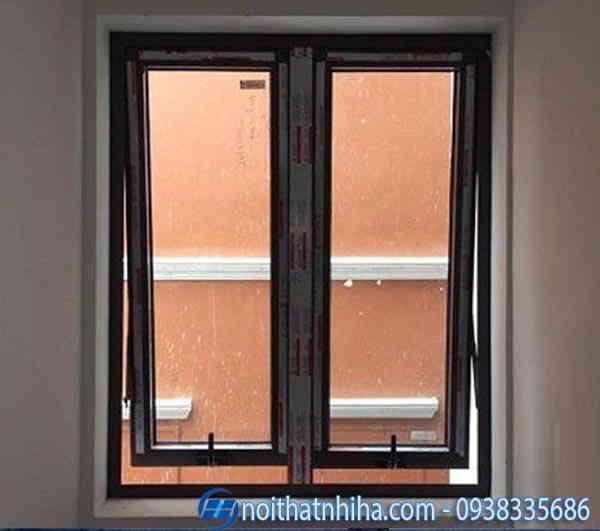 Cửa sổ nhôm kính 2 cánh mở hất