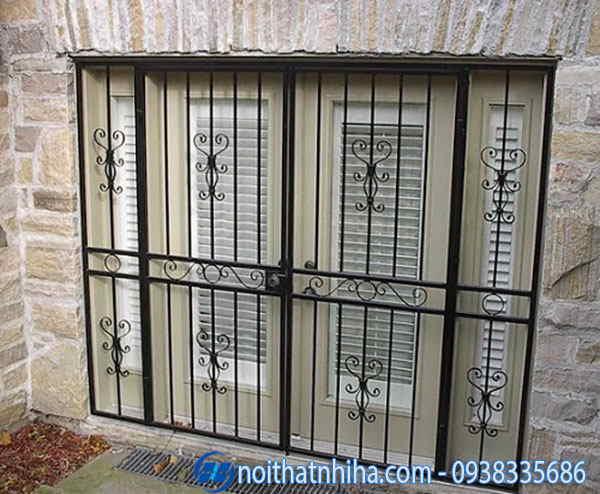khung bảo vệ cửa sổ sắt đẹp