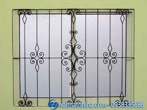 khung bảo vệ cửa sổ sắt đẹp đơn giản