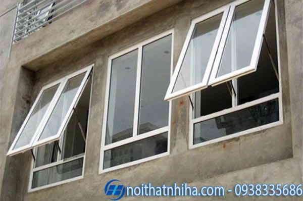 Cửa sổ nhôm kính 2 cánh màu trắng