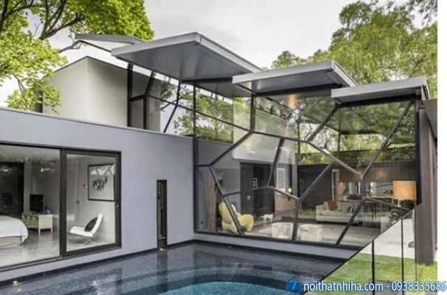 Thiết kế thi công biệt thự kính đẹp, hiện đại nhất Việt Nam