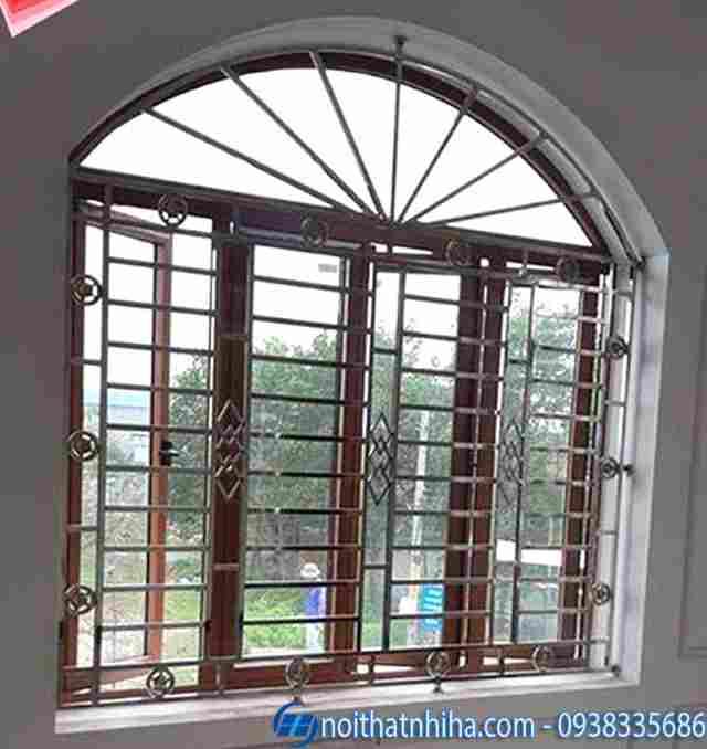 Mẫu chấn song cửa sổ inox, sen hoa cửa sổ đẹp nghệ thuật