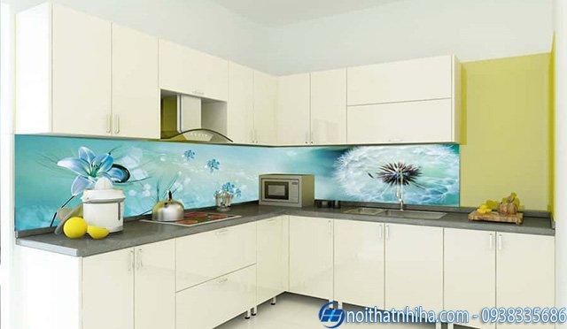 Mẫu Tranh kính 3D ốp bếp đẹp