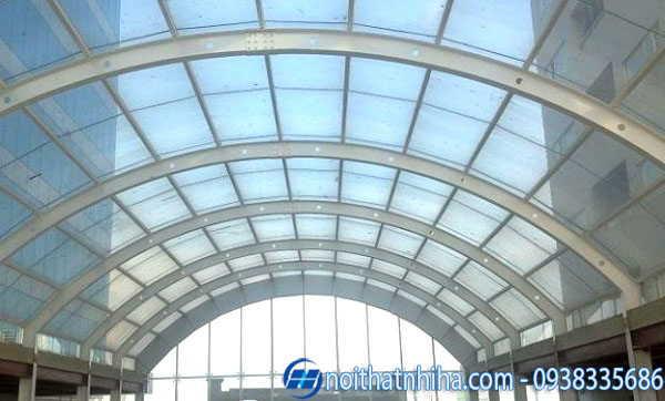 Mái kính cường lực tại Quảng Ninh đẹp