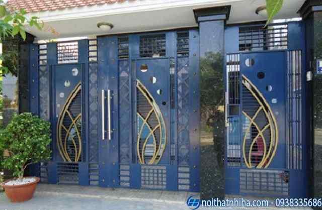 Mẫu cổng sắt mỹ thuật đẹp