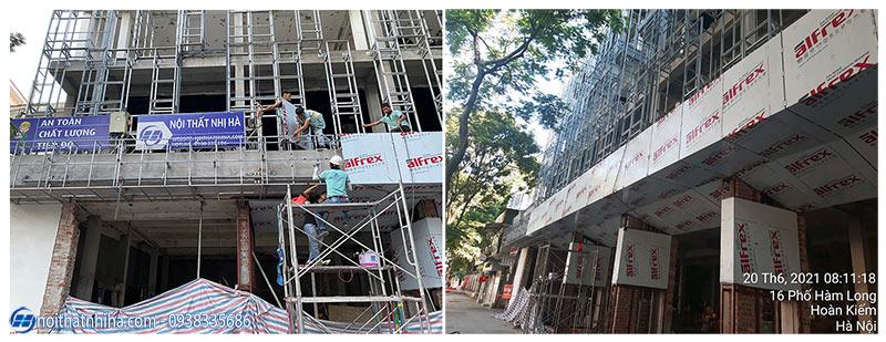 Thi công vách mặt dựng Alu tại Hoàn Kiếm Hà Nội