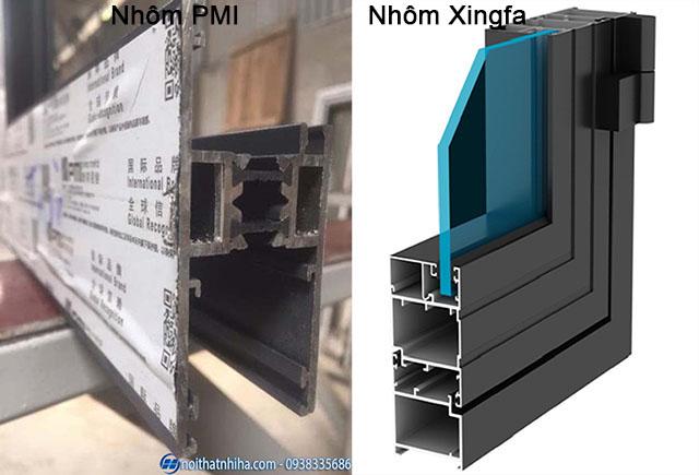 So sánh cửa nhôm PMI và cửa nhôm Xingfa