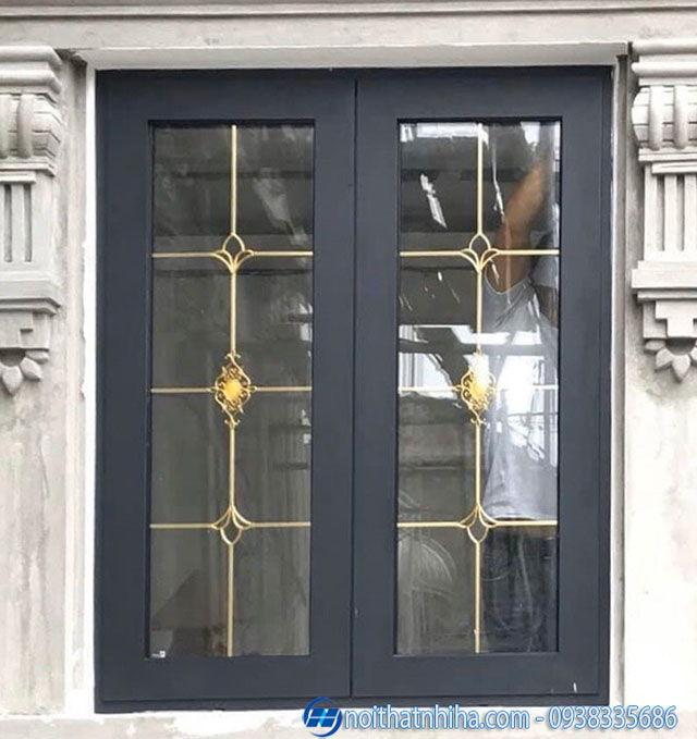 Cửa nhôm kính hoa đồng