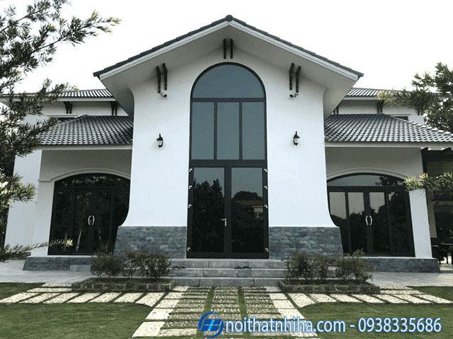 Cửa nhôm Xingfa uốn vòm