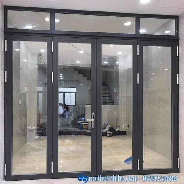 Cửa nhôm kính tại Hà Nội thiết kế 4 cánh mở quay