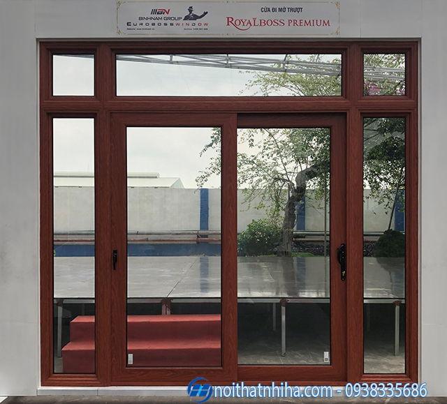 Mẫu cửa nhôm Hà Nội thiết kế mở lùa trượt