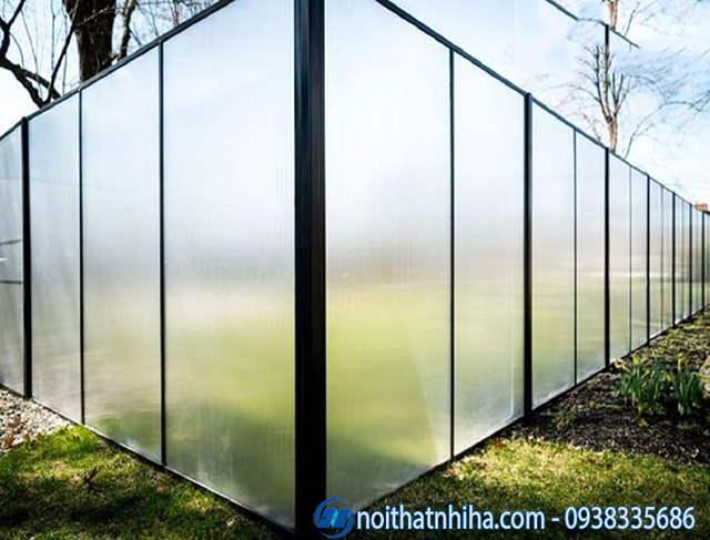 Hàng rào kính cường lực