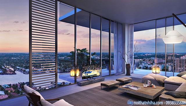 Lắp đặt cửa kính khách sạn tạo ra tầm view thoáng rộng