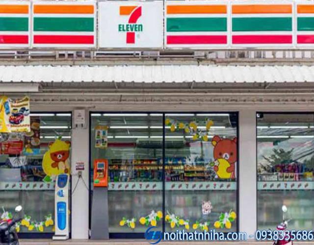 Hệ thống vách cửa kính tại siêu thị mini