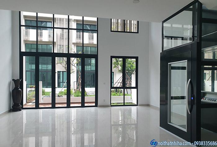 Cửa nhôm Hyundai tạo nên không gian thoáng rộng cho ngôi nhà