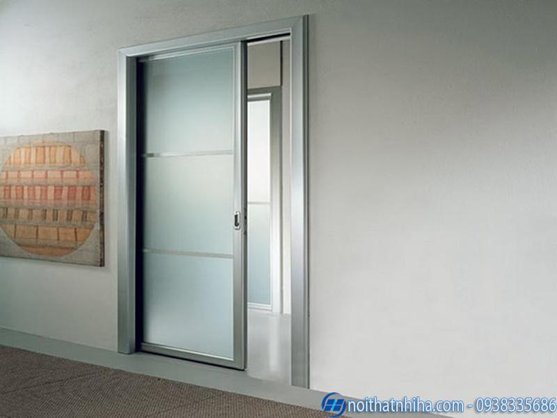 Mẫu cửa nhôm kính 1 cánh mở trượt đẹp