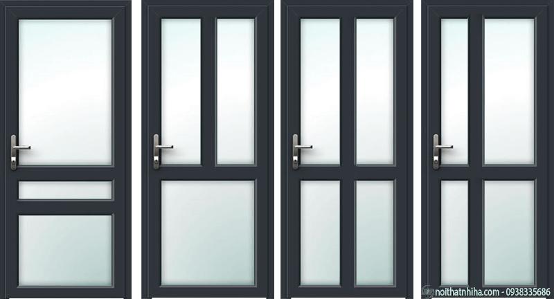 Mẫu cửa nhôm kính 1 cánh mở quay