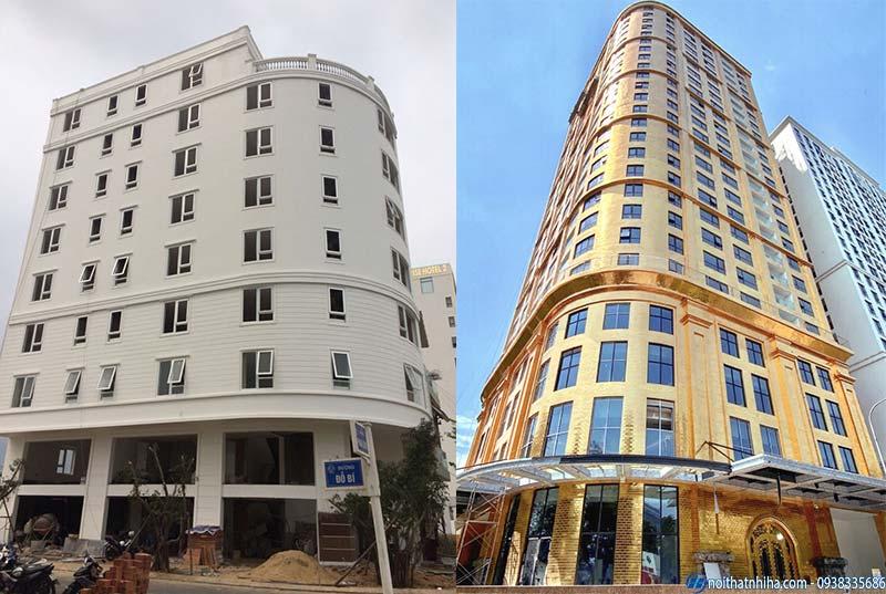 Các loại cửa nhôm kính tầm trung thường được lắp đặt cho các chung cư, nhà cao tầng