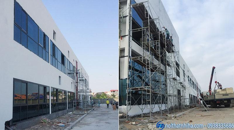 Dự án thi công cửa vách nhôm kính nhà máy IVY MODA tại Hưng Yên