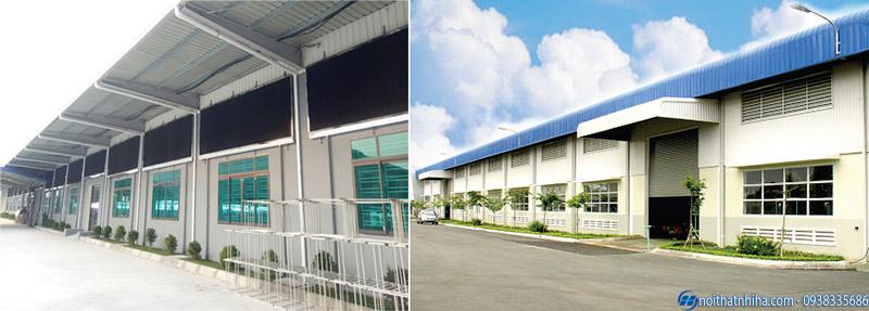 Dự án thi công nhôm kính nhà máy nhà xưởng tại Bắc Ninh
