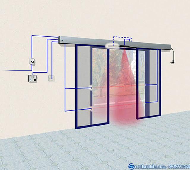 Bản thiết kế cửa tự động Vĩnh Phúc