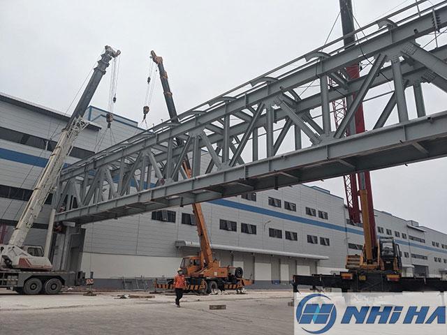 Dự án cầu thang kết cấu thép khu công nghiệp Đồng Văn