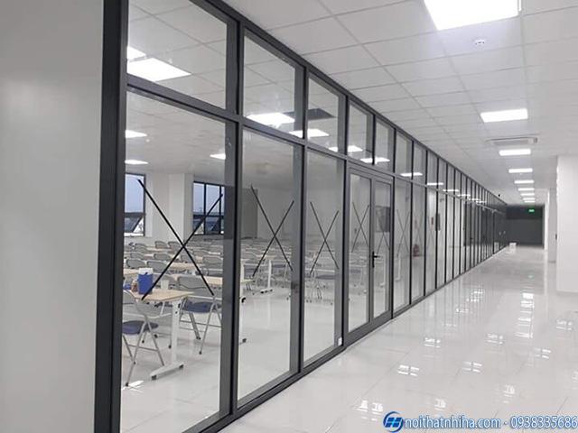 Dự án thi công nhôm kính văn phòng tại Bắc Ninh
