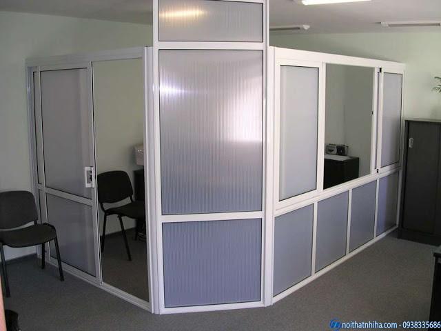 Vách Cửa nhôm kính văn phòng hệ 50