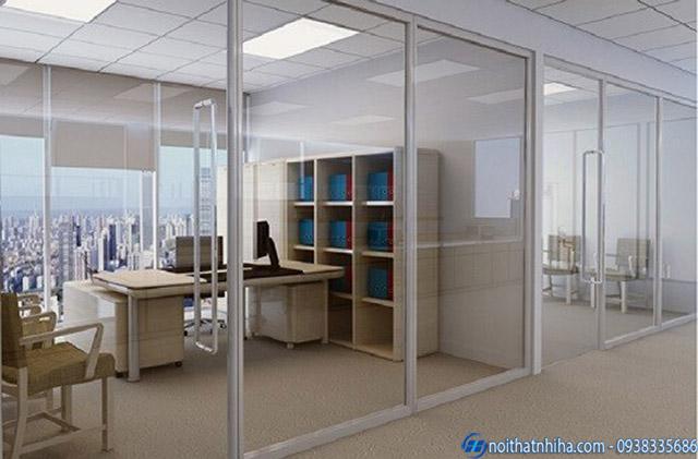 Cửa nhôm kính văn phòng hệ A38 nhẹ nhàng