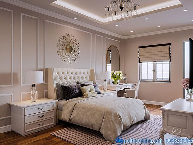 Mẫu trần thạch cao cổ điển phòng ngủ