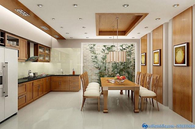 Trần thạch cao phòng bếp