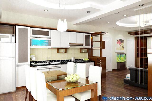 Mẫu trần thạch cao phòng bếp hiện đại