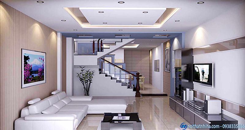 Mẫu trần thạch cao phòng phòng khách đẹp